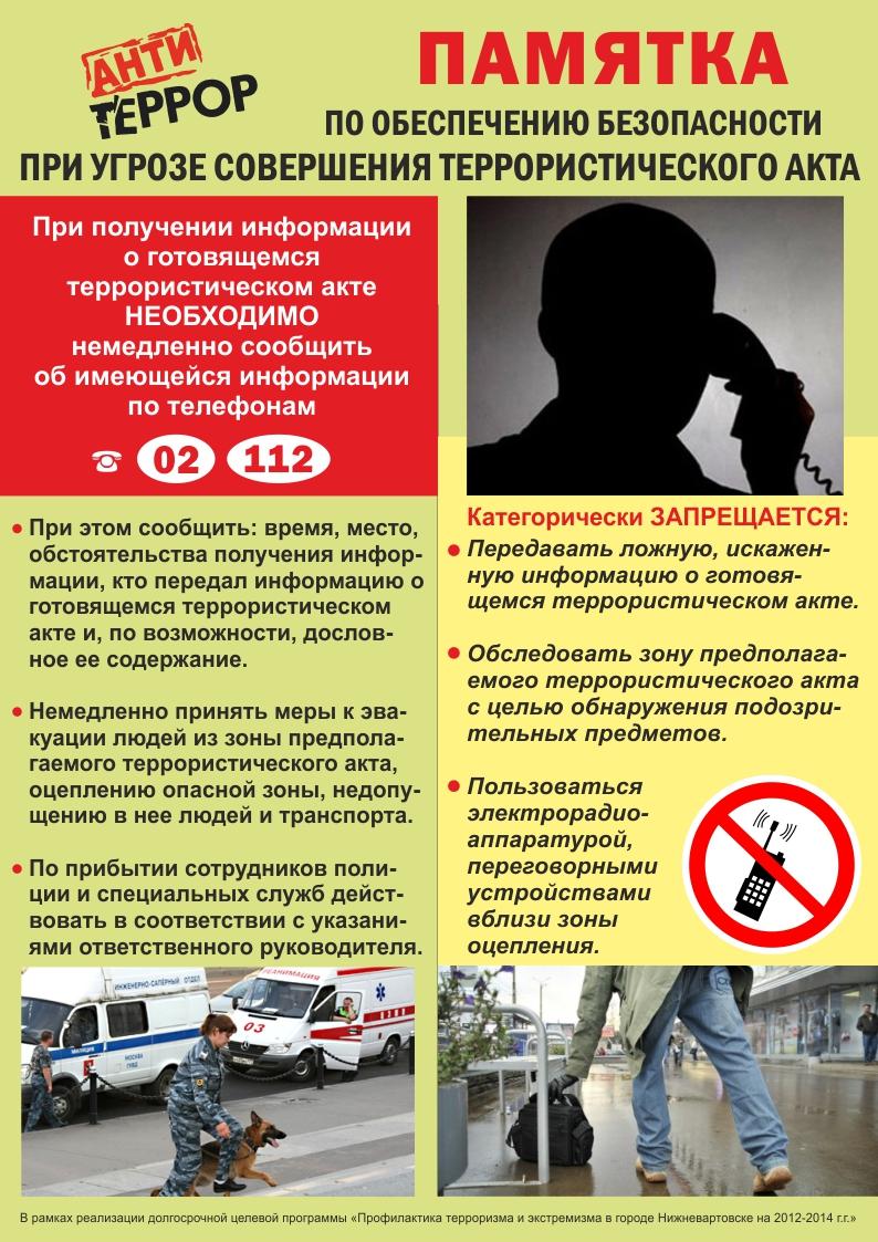 Инструкции По Антитеррористической Безопасности В Торговом Центре